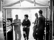 91st Evac Crest 1970 People In Uniforms And Scrubs Moving Through A Barnlike Buidling