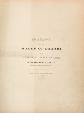 Title page for Shadows from the Walls of Death.