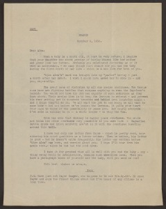 A typwritten letter from Stan to Alma, dated October 6, 1918, France.