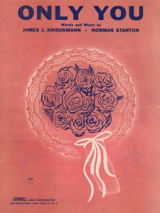 Sheet music cover reads words and music by James J. Kriegsmann and Norman Stanton.
