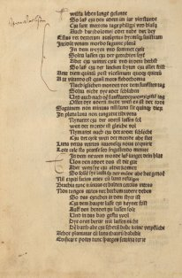 An annotated page from Regimen Sanitatis Salernitanum, printed between 1486 and 1489