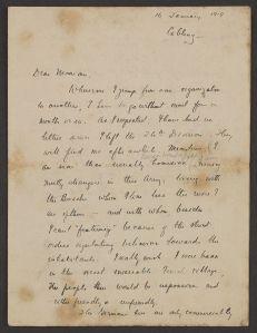 A handwritten letter dated 16 January 1919