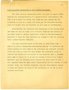 A typwritten page.