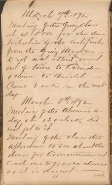 A handwritten page dated March 7th, 1872.