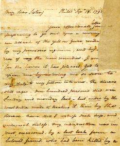 Page of handwritten text