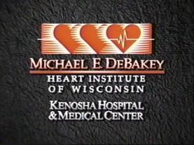 Promotional Video logo for the Michael E. DeBakey Heart Institute of Wisconsin Kenosha Hospital & Medical Center.