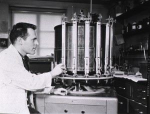 Photograph of a laboratory worker.