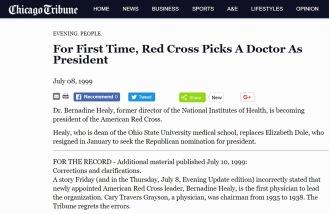 Screenshot image of a ChicagoTribune article.